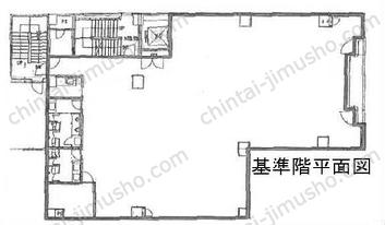 ユニゾ芝二丁目ビル3Fの間取図