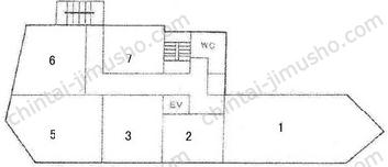 第1下川ビル2Fの間取図