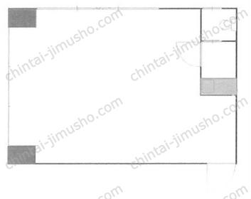 中部電材ビル4Fの間取図