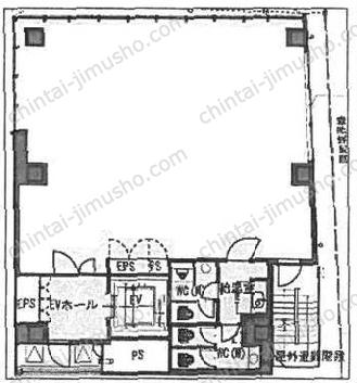 第42荒井ビル(南青山5丁目)4Fの間取図