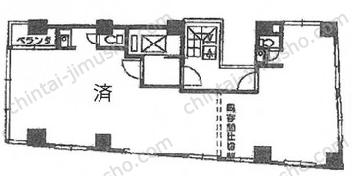 新盛堂ビル8Fの間取図