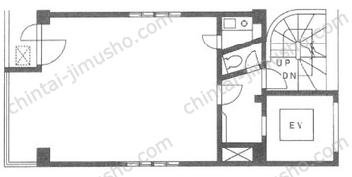クレスト山の上ビル6Fの間取図