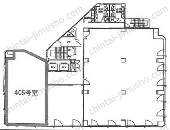 ジブラルタ生命池袋ビル4Fの間取図