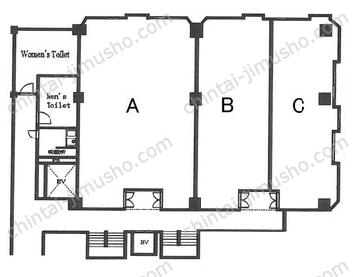鯨岡第一ビル4Fの間取図