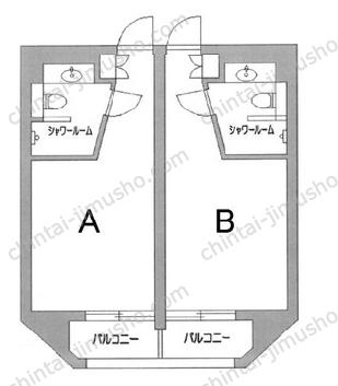 エムズ上野スクエア7Fの間取図