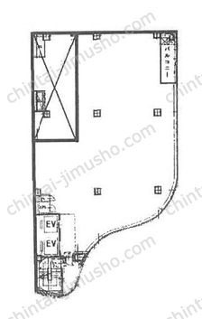 銀座クリスタルビル9Fの間取図