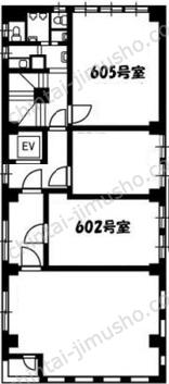 関内キャピタルビル6Fの間取図