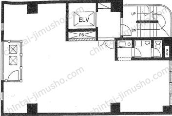石島ビル4Fの間取図