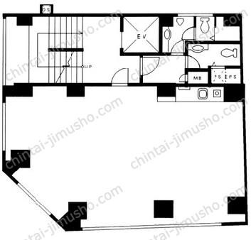 ニュー銀座ビル3Fの間取図