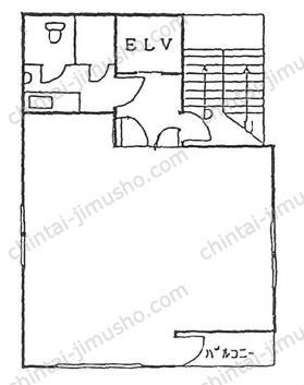 第19大協ビル6Fの間取図