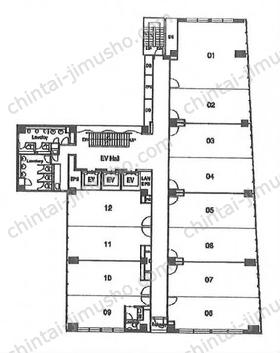BUREX麹町/ビュレックス麹町3Fの間取図