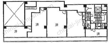 東京銀座ビルディング5Fの間取図