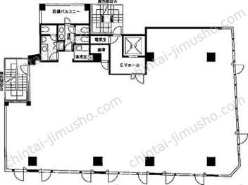 大塚ビルディング3Fの間取図