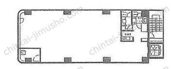 陽光銀座セントラルビル5Fの間取図