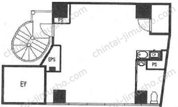 eisuビル市ヶ谷(事務所棟)9Fの間取図