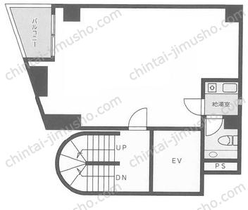 新宿大澤ビル2Fの間取図