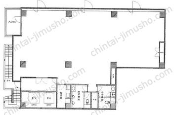 築地第3長岡ビル2Fの間取図