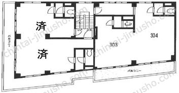 第2駒信ビル3Fの間取図