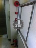 消火器と警報機です
