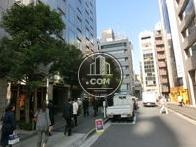 街路樹が並ぶ歩道